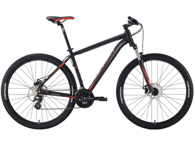 MERIDA BIG.SEVEN 15-MD 27.5 (2018) mattblack-grey-signalred